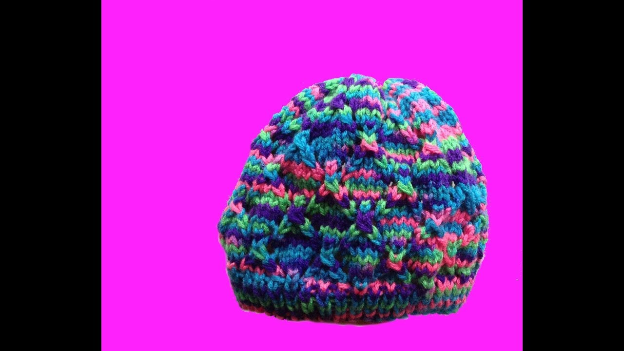 how to knit a hat - with straight needles for a small child - YouTube