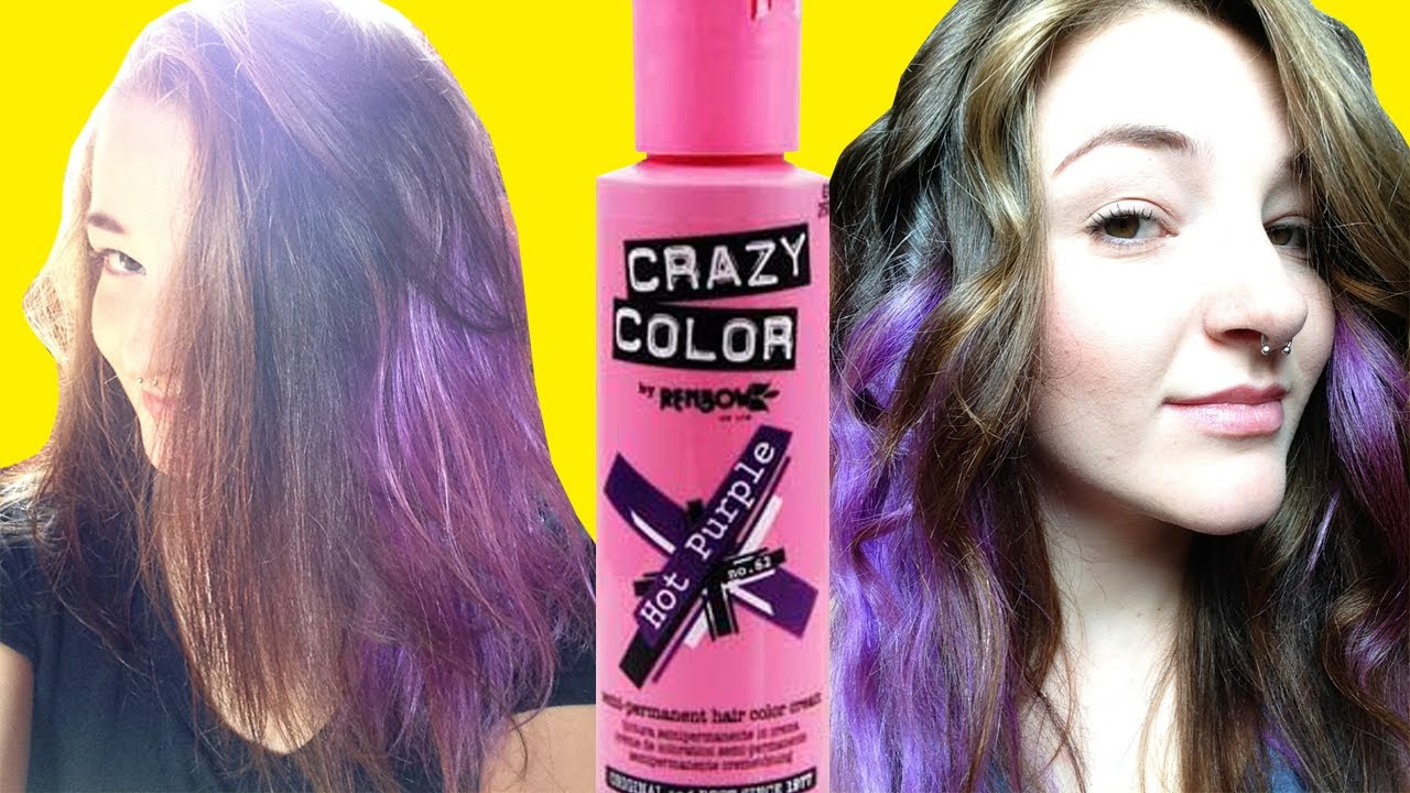 Hot Purple Hair Renbow Crazy Color Review How To Youtube