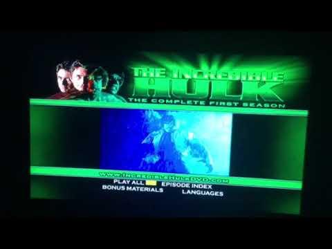 The Incredible Hulk the complete first season dvd menu