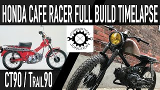 CAFE RACER BUILD, HONDA FULL BUILD TIME LAPSE