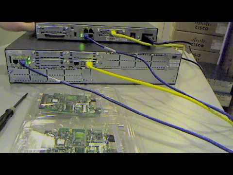 Install Cisco Modem In 1841 Or 2821 Router Youtube