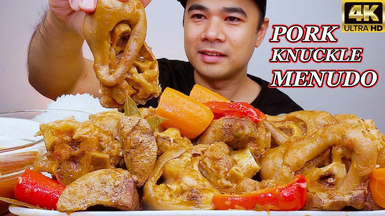 PORK KNUCLKE MENUDO | Mukbang Philippines | FILIPINO FOOD | @ALFIE EATS