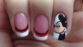 Mickey Mouse Nail Art Tutorial (REQUEST)