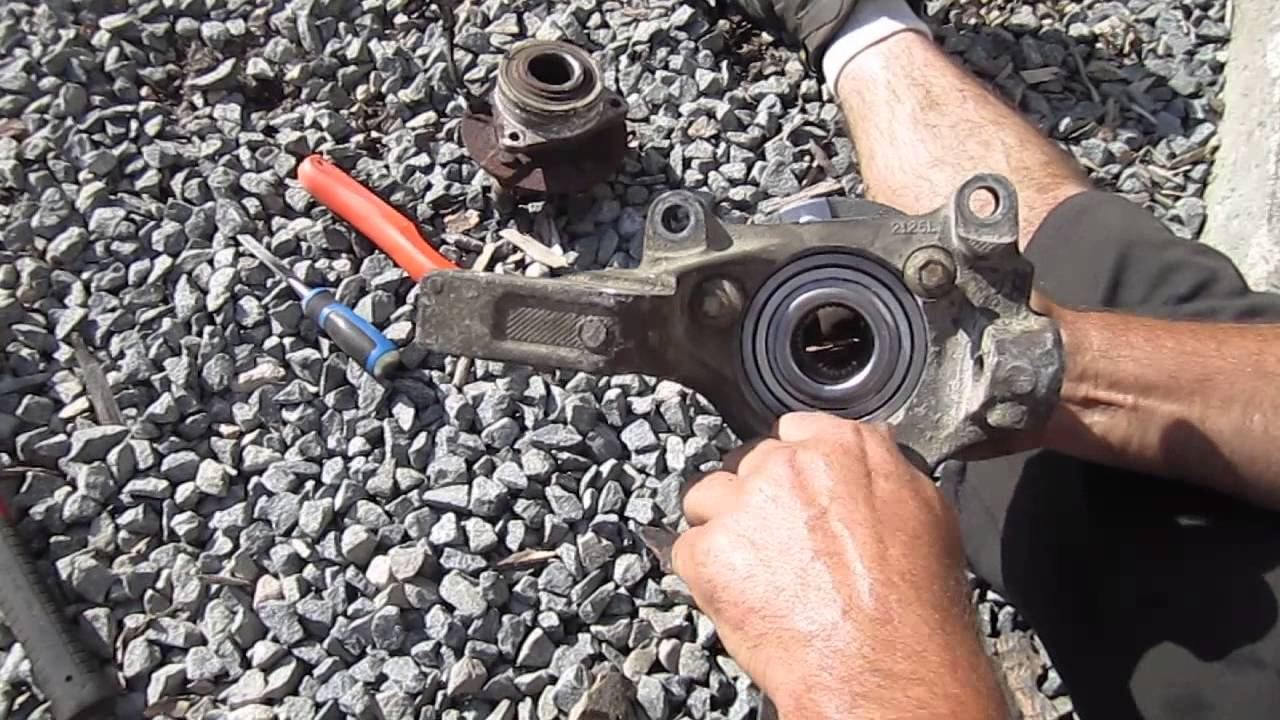 saturn vue how to install the front wheel bearing in its hub youtube rh youtube com 2005 Saturn Vue Parts Diagram 2007 Saturn Vue Body Parts