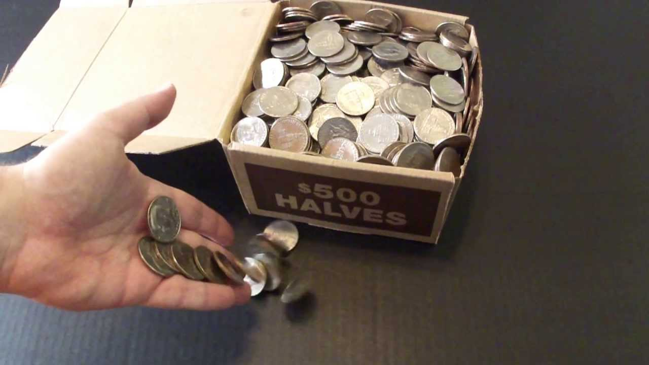 Silver Hunting 6 28 13 In Half Dollars 500 Box Youtube