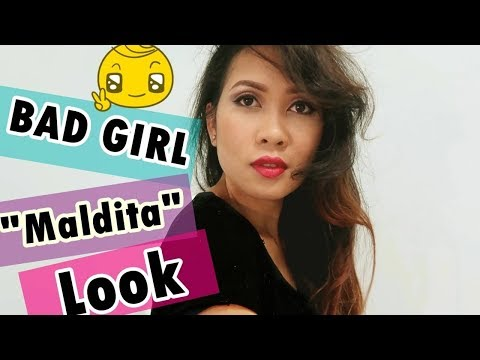 BAD GIRL LOOK | Maldita Look | Still learning how to makeup like a pro ♥