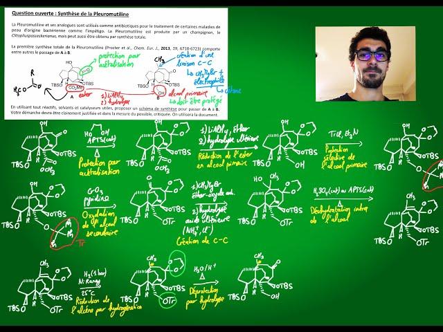 Exercice : Synthèse de la pleuromutiline