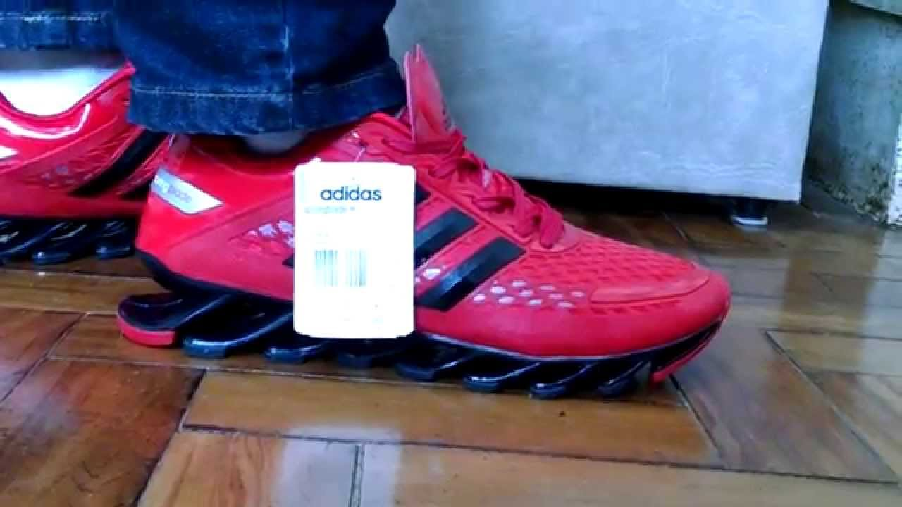 Tênis Adidas Springblade Razor Vermelho - YouTube d5bf7176f71b0