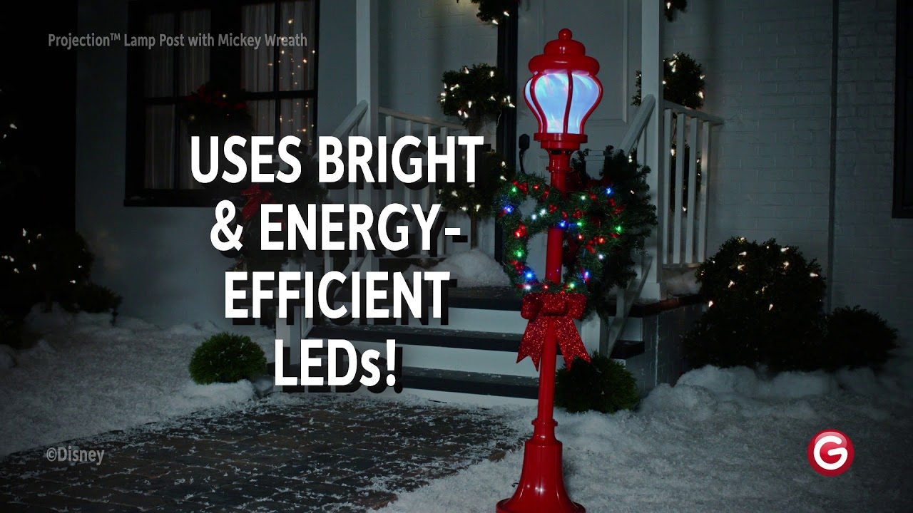 Mickey Mouse Light Ribbons™ LED Projection™ Lamp Post