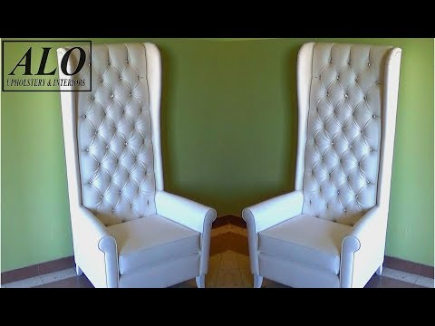 DIY - HOW TO UPHOLSTER A CHAIR WITH A TUFTED STYLE BACK - ALO Upholstery