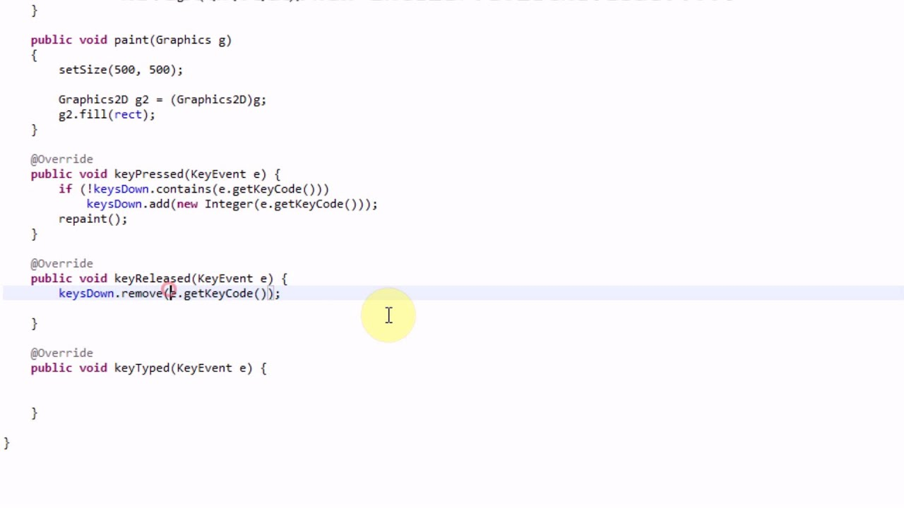 Learning java part 21 using a keylistener youtube baditri Image collections