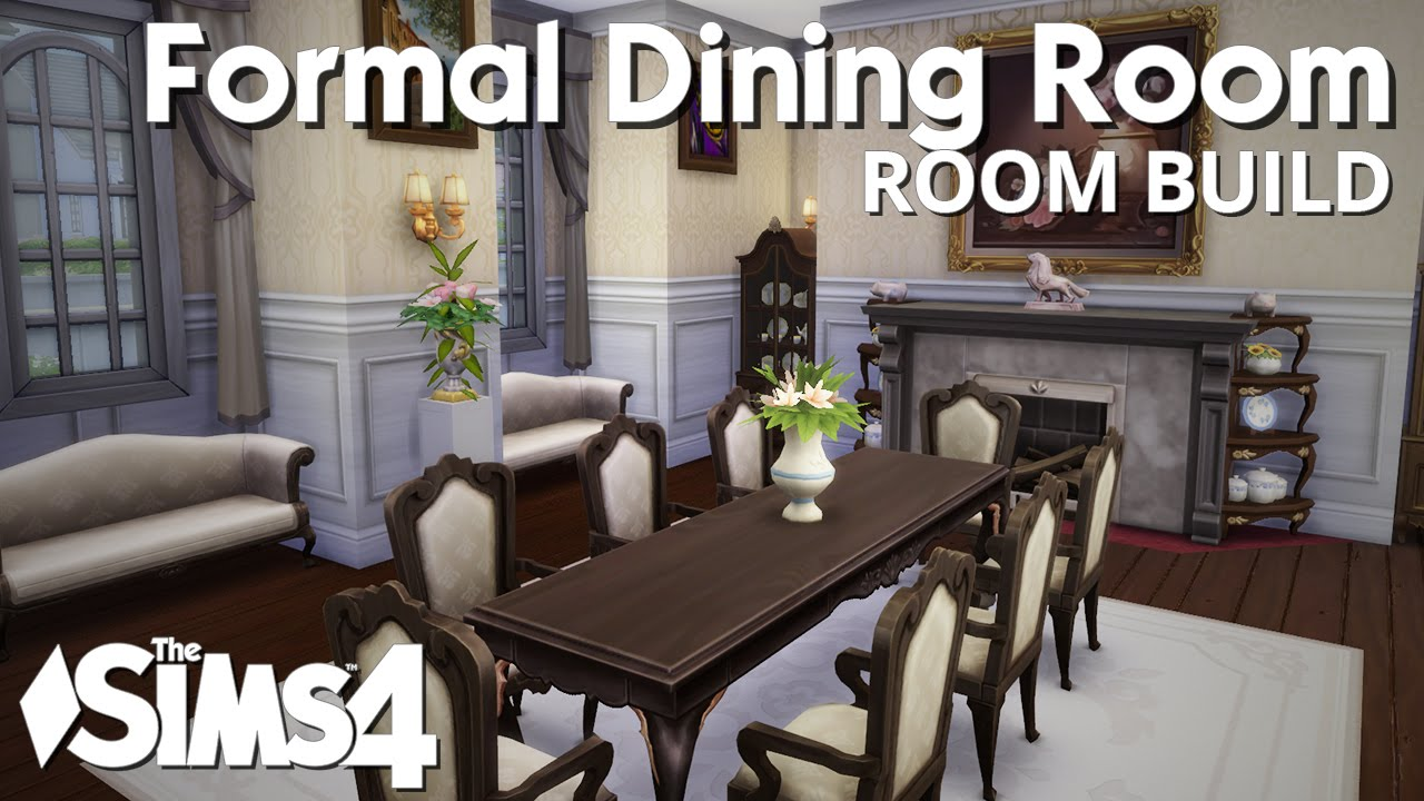 The Sims 4 Room Build   Formal Dining Room