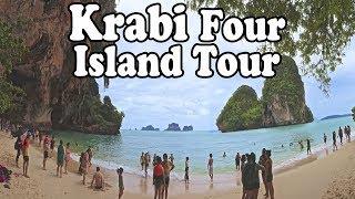 Krabi Island Tour: 4 Islands Tour. Krabi Thailand Island Hopping.