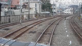 西武鉄道30000系「急行 本川越行き」が小平駅を発車(車内から)
