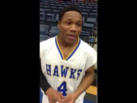 Children's Village senior guard Rafiq Shaheed talks about his team's 64-51 win Monday against Tuckahoe in the semifinals of the Section 1 Class C tournament.