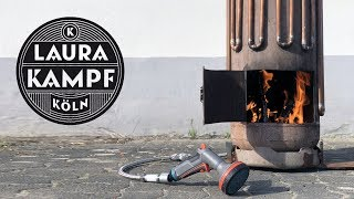 Off Grid Water Heater - Hot Water with DIY Firestove