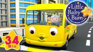Las ruedas del autobs parte 12  Canciones infantiles  34 minutos de recopilacin LittleBabyBum