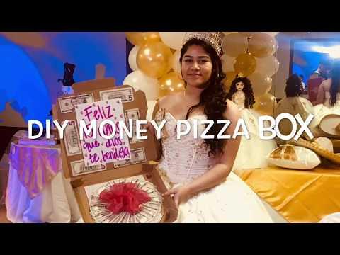 DIY MONEY PIZZA BOX