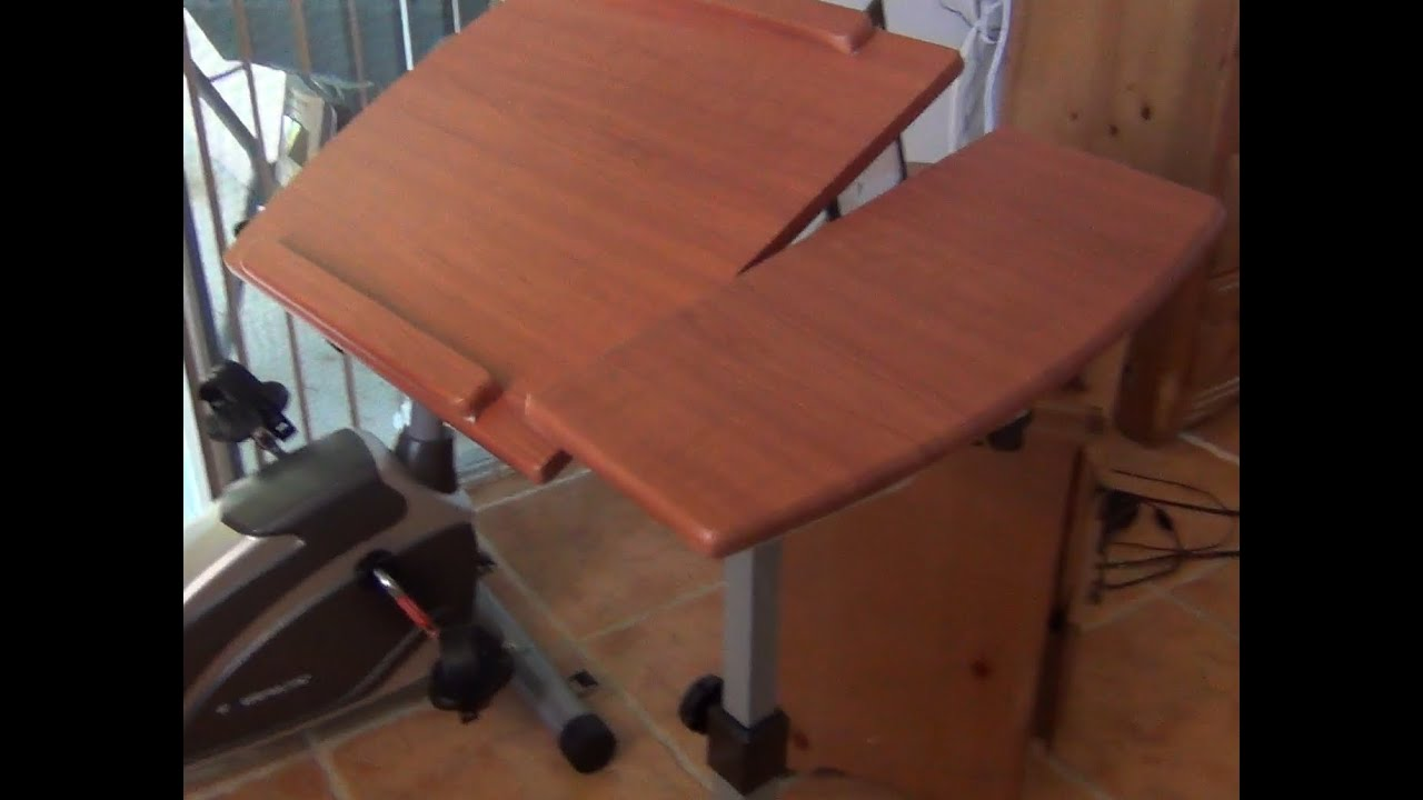 Adjustable Rolling Laptop Desk HW45563 Assembly And Review