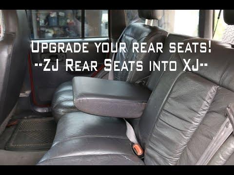 ZJ Rear Seat Into An XJ:  60/40 Split And Headrests.