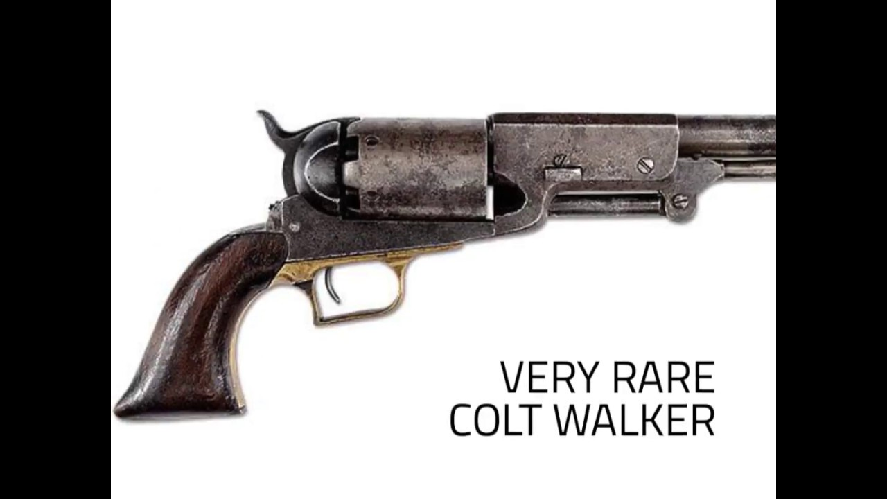 VERY RARE COLT WALKER PERCUSSION REVOLVER AUTHENTICATED IN