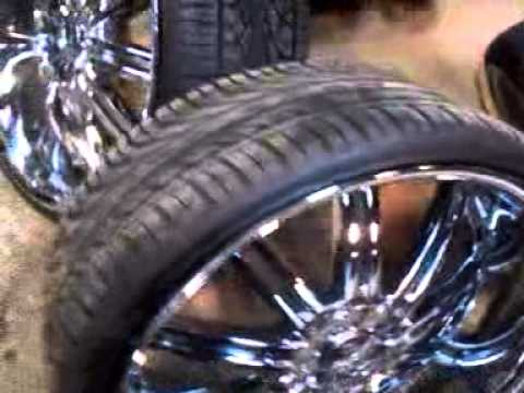 24 S Rims Tires For Sale 1300 Youtube