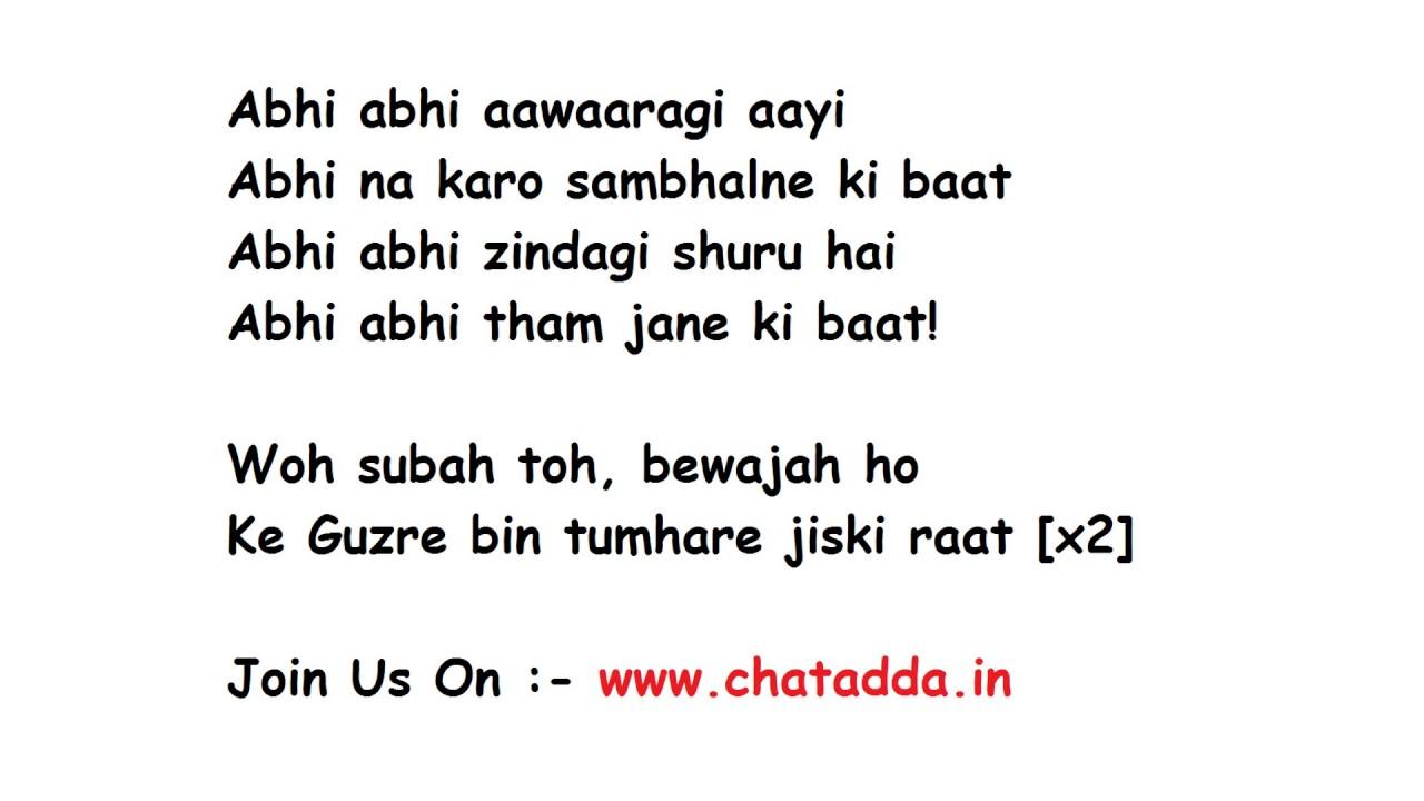Abhi Abhi (Male) | Jism 2 | Song Lyrics | Glamsham