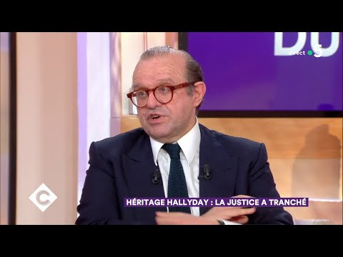 Héritage Hallyday : la justice a tranché - C à Vous - 13/04/2018