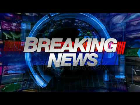 stock footage breaking news broadcast graphics title