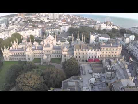 Brighton Pavilion from above