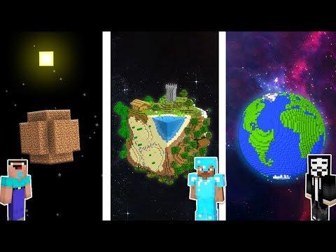 Minecraft PLANET EARTH CHALLENGE 🌎🌍🌏 / Noob Vs Pro Vs Hacker In Minecraft