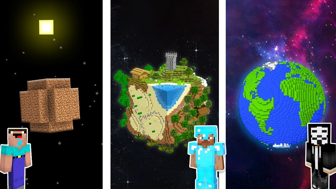 Minecraft NOOB vs PRO vs HACKER : PLANET EARTH CHALLENGE in minecraft / Animation
