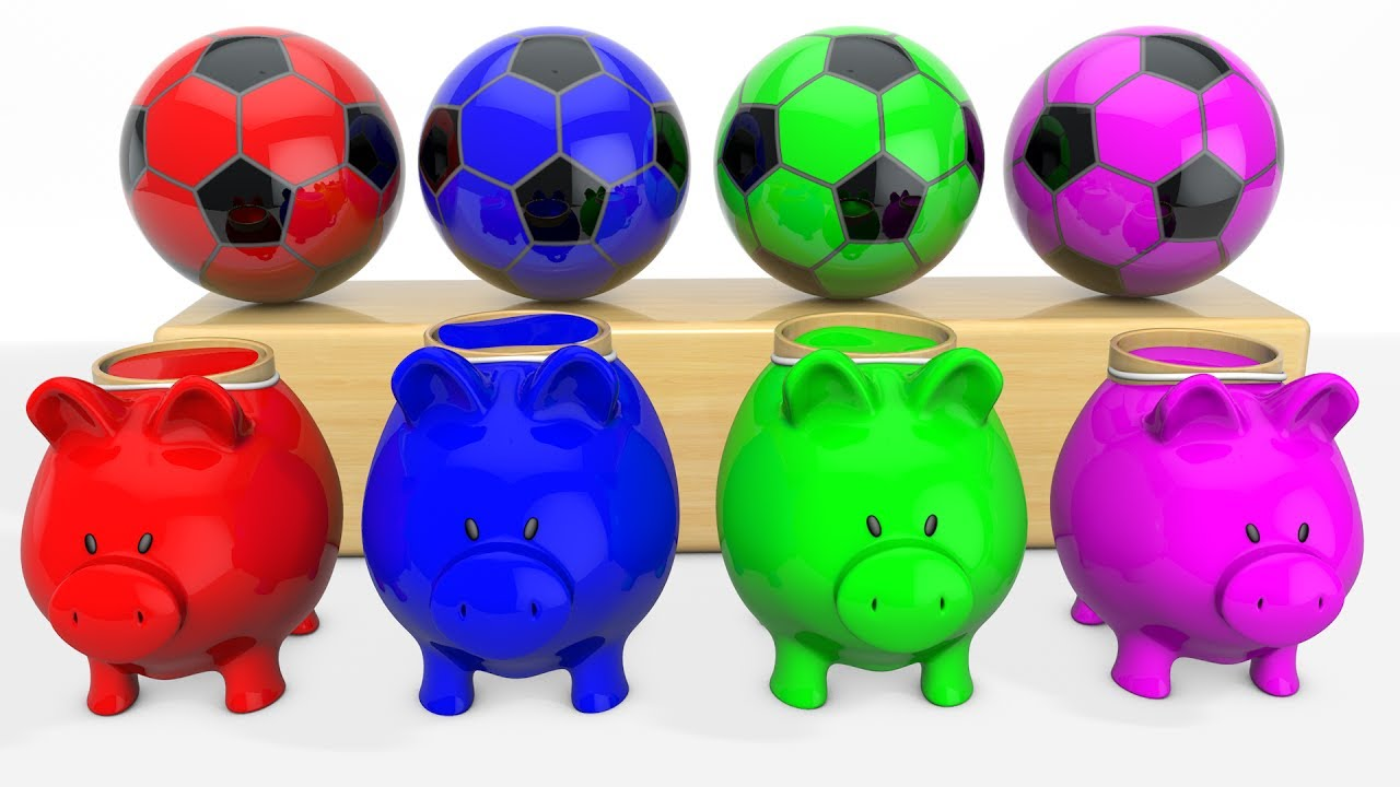 Learn colors with pigs and balls for kids ,Toddlers and Babies ...