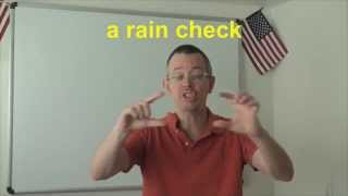 Learn English: Daily Easy English Expression 0628: a rain check