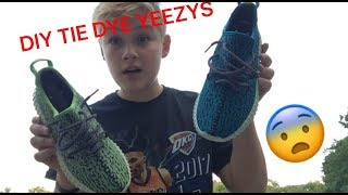 I ACTUALLY TIE DYED MY YEEZYS *NOT CLICKBAIT*