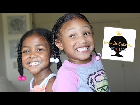 Kiddy Collab! Anna Braids on dry hair using CrownMe Coil Care