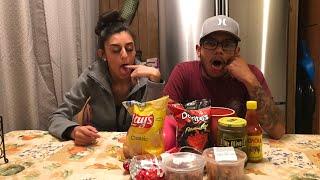 SALTY VS SPICY FOOD CHALLENGE 🌶