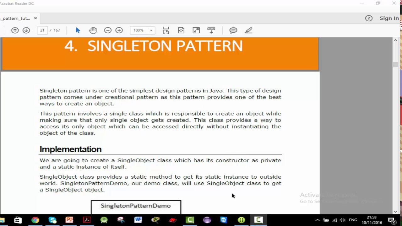 Singleton Pattern In Java Best Ideas