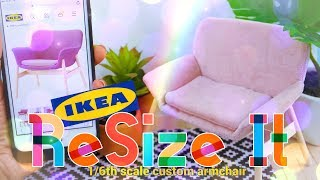 Resize It: How to Make - miniature Ikea Chair 1/6th Scale | Sewing Craft
