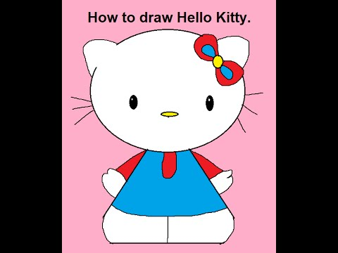 How to draw cartoon characters hello kitty step by step easy for kids beginners
