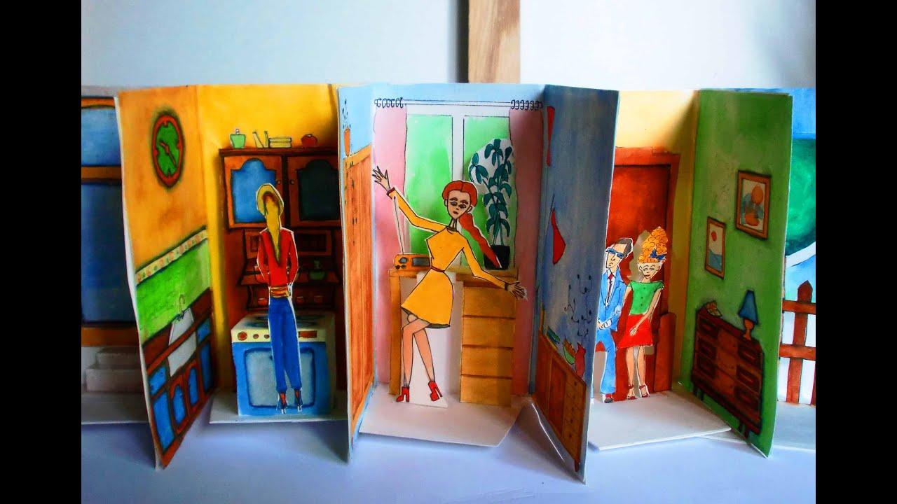 Einfaches papier puppenhaus basteln youtube for Puppenhaus basteln