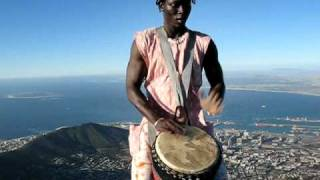 ALA Master Djembe Drummer, Cape Town on Table Mountain