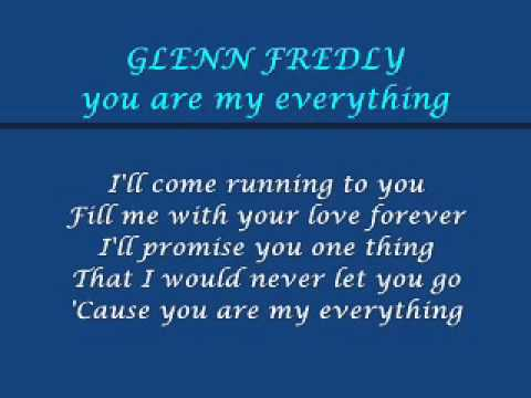glenn fredly  you are my everything lyric