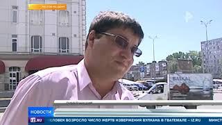 Lexus расплавился под палящим солнцем в Ростове