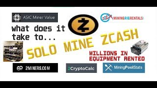 What does it take to SOLO MINE ZCASH?  We rented millions of dollars of equipment to find out....
