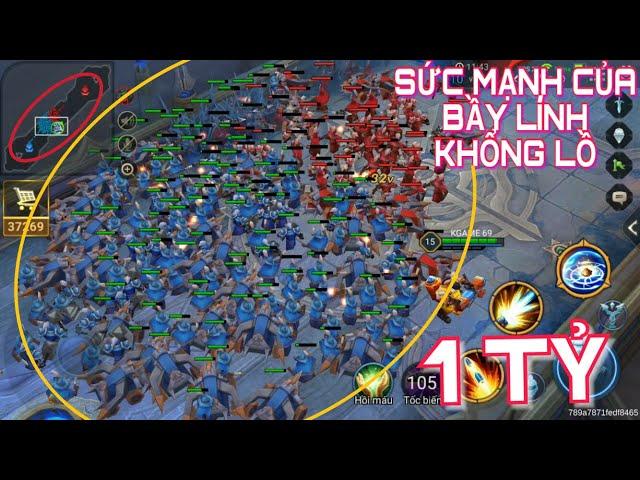 [Kgame 69] Sức mạnh của bầy lính nhiều nhất Liên quân mobile - 1 Tỷ con lính Liên Quân đại chiến