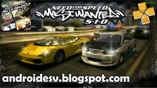 Need for Speed: Most Wanted 5-1-0 Para Android [PPSSPP + Configuraciones] [CSO] [En Español] HD