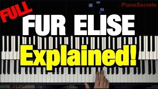 "HOW TO PLAY - ""Für Elise"" by Beethoven (Piano Tutorial Lesson) (Complete)"