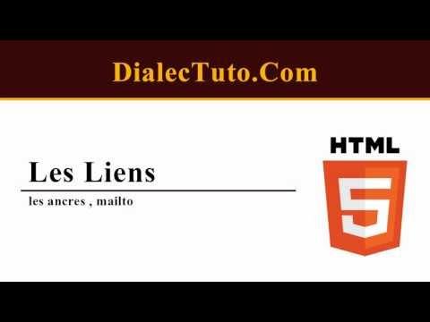 15. Cours Html5 Les Liens : Les Ancres , Mailto