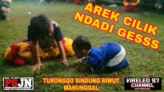 Anak Kecil Ini Ikutan Ndadi Saat Jaranan Main Turonggo Sindung Riwut Manunggal live lapangan Jatigui